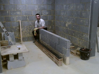 Level 2 Bricklaying and Carpentry Students